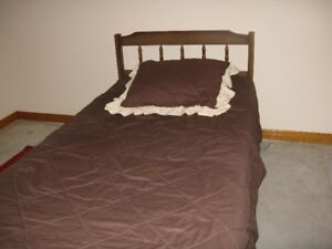 Single Bed, with dresser and nightstand