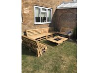 Handcrafted pallet garden bench
