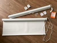 Blackout Blinds (Pair) New* White + Fittings