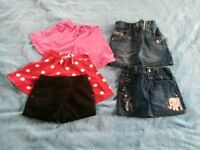 Skirts and shorts for 3-4 years old