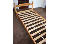 Pine single bed frame. £25