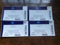 4 BROS TICKETS Sunday 20th August 2017 £160 for 4 or £80 for 2