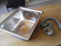 New stainless steel sink small square ideal for caravan campervan van conversion