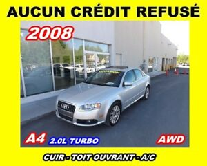 2008 Audi A4 2.0T *CUIR + TOIT OUVRANT* BAS MILLAGE