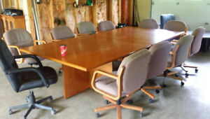 Conference table & 10 chairs