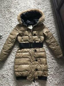 Used beige Moncler jacket size 1