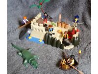 Large Playmobil Pirate Hideout Bundle + Tons of Accessories.