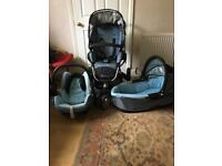 Quinny Buzz Pushchair with Carrycot & Car Seat