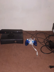 Xbox 360 w/Kinect and four games