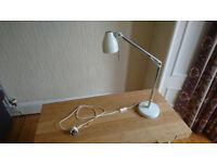 White Ikea desk lamp TRÅL