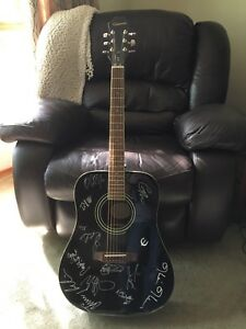 Acoustic Guitar Signed by Multiple Country Artists