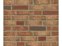 BRICK TILES RED YELLOW/BLACK FLAMED HAND MOLDING ref. DF690