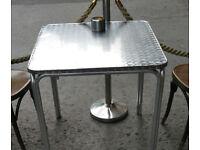 aluminium table for restaurant cafe bar garden outdoor