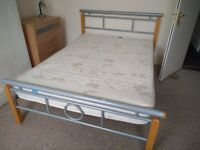 Double bed and new mattress