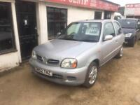 2002 Nissan Micra 1.0 16v Tempest P/X WELCOME