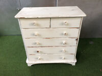 White chest of drawers vintage look