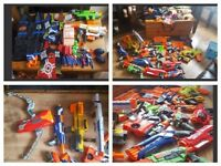 Large Collection of Nerf Guns, Bullets, Magazines, Vest and Jackets £150 ono