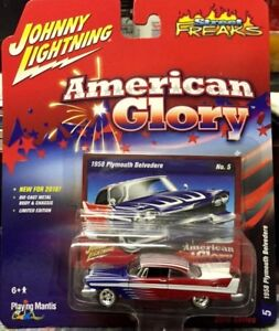 "Johnny Lightning ""American Glory"" 1958 Plymouth Belvedere 1:64"