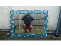 Large Decoupage mirror
