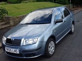 2005 SKODA FABIA 1.4 5 DOOR SALOON WITH WARRANTED LOW MILEAGE
