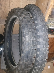 Front and rear dirtbike tires