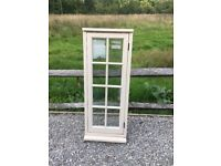 Bereco brand new cream wooden double glazed window 540mmx1345mm farrow&ball Clunch
