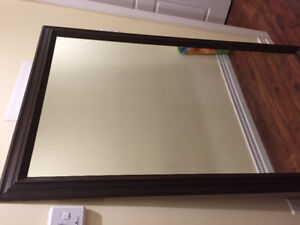 Huge Mirror With Wood Frame