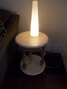 Faux Marble 2 Shelf Table