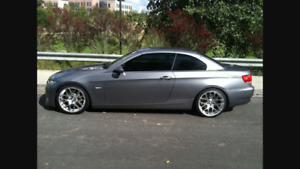 BMW 335i cuire rouge cabriolet