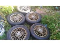 Rare Porsche 924 Weissach Limited Edition Alloy Wheels & Tyres x 5