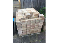Brett block paving in 2 sizes, approx 15 to 16 Sqm in total.