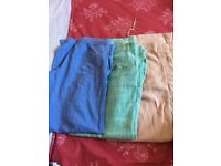 3 pairs of next linen trousers, size 8