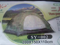 2 Person Camouflage Dome Tent (New)