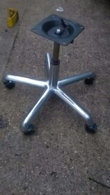 Replacement swivel chair base