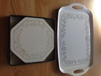 ETERNAL BEAU (Johnson Brothers) Serving Tray and Table Mats