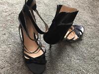 Ladies Rascal High Heel Cuffed Sandals 6