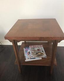 Lane Square table vintage walnut Danish design