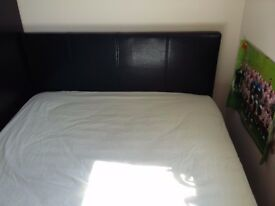 double bed, Leather Frame, IKEA