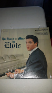Elvis Presley LP Record Album Original His Hand in Line Gospel
