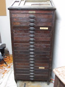 Antique Printers Cabinet