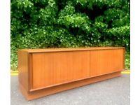 Vintage G Plan Danish style teak sideboard / TV cabinet / Media unit. Delivery. Modern / Midcentury
