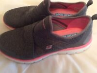 Sketchers Air Cooled Memory Foam Blue Trainers/Shoes- size 8- worn once- too big for seller