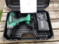 Hitachi drill driver, charger + case