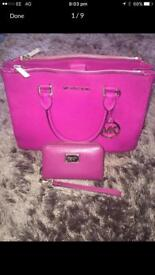 Michael kors pink bag & purse