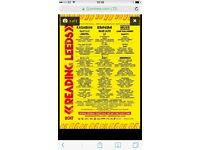 Weekend tickets £110 each Leeds festival