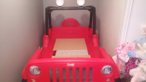 Jeep wrangler twin bed