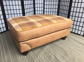 Ex Display Abbey Footstool in Rodeo Tan