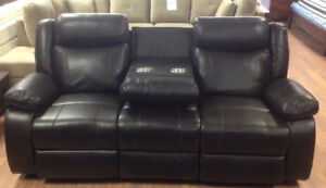 Brand new leather air recliner sofa & loveseat is on sale $1598