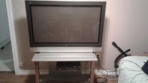 "47 "" plasma tv with stand."