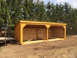 RUN IN SHEDS.  WOOD / HAY STORAGE